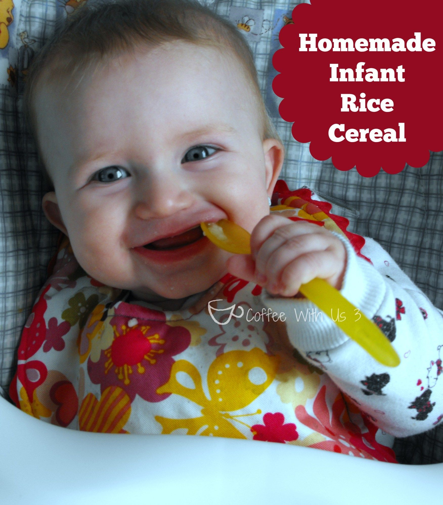 Rice cereal success baby charlotte stuff pinterest rice cereal making your own homemade rice cereal lets you control what ingredients youre feeding your baby plus its really simple ccuart Images
