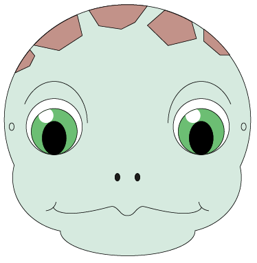 Print and colour in this adorable sea turtle mask with the kids