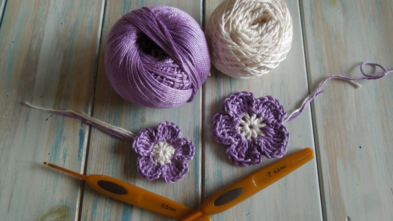 crochet) How To Crochet a Flower version 3 - Yarn Scrap Friday ...