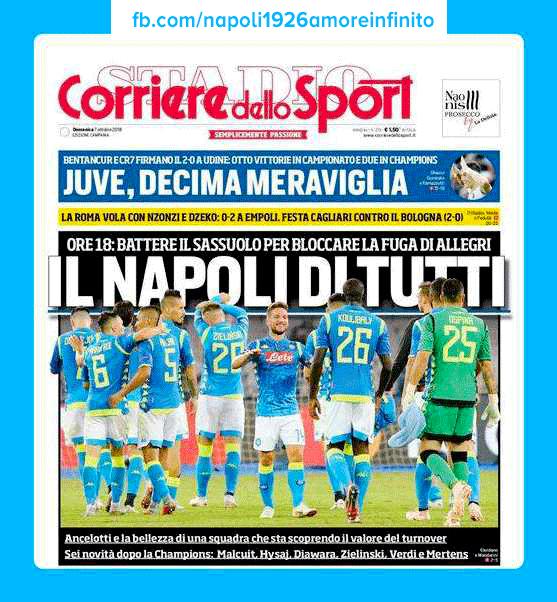 ☑️ 🏻 CorrieredelloSport Prima Pagina Ediz. Campania 💙