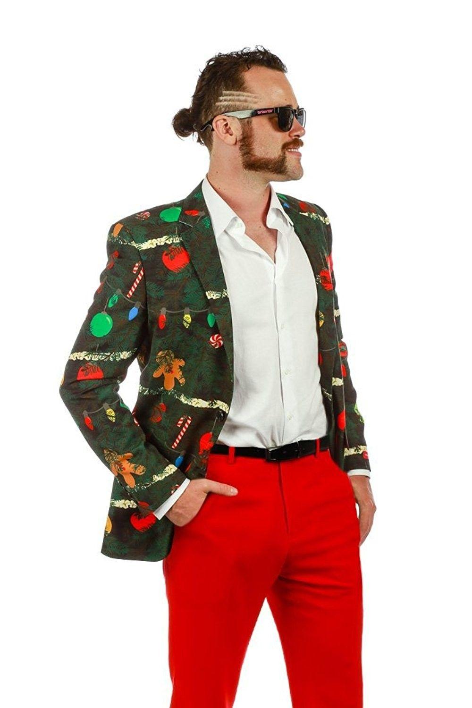 acbaf568b Ugly Christmas Blazer And Tie- The Christmas Tree Camo For Men ...