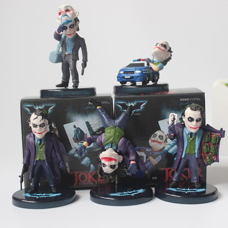 The Dark Knight Joker 5pcs//Set PVC Action Figure Model Toy