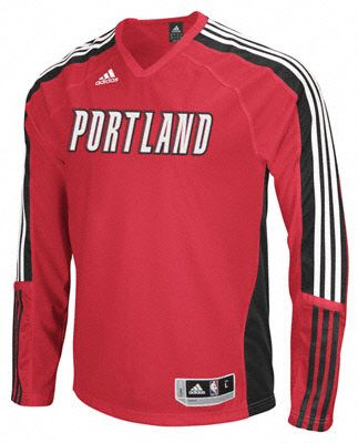 Trail Blazers Adidas On-Court Long Sleeve Shooting Shirt