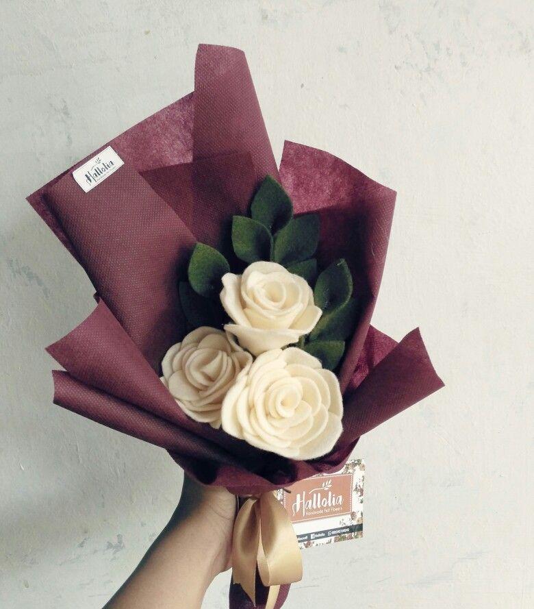 Pin Oleh Robin Groves Di Felt Bunga Kertas Bunga Kain