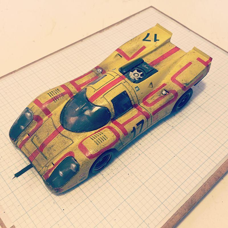 """""""Hellow Porsche"""" - Porsche 917. NSR 1732 slot car fantasy livery"""