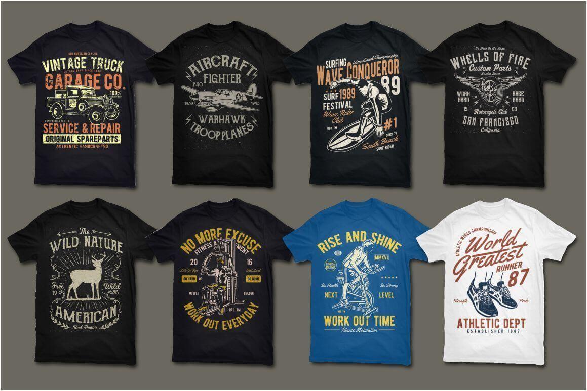 e260c1e0 200 Editable Vector Collection For T-shirts Design Pass Review ...