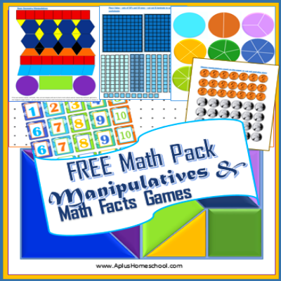Free Math Manipulatives Printable Pack   Free math, Math facts and Maths