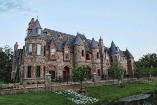 european castle style home in southlake texas dallas fort worth rh pinterest com