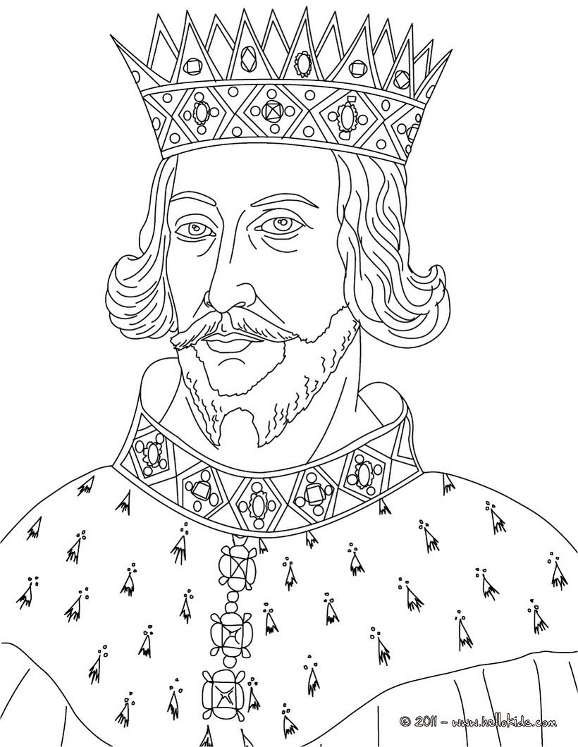 King Henry Ii Coloring Page Coloring Pages People Coloring