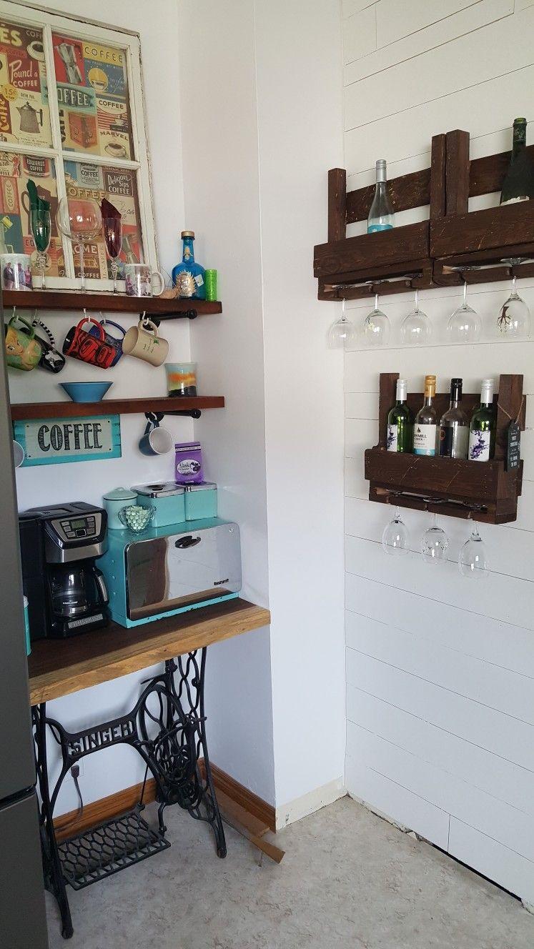 pallet wine rack farmhouse coffee coffeebeforewine