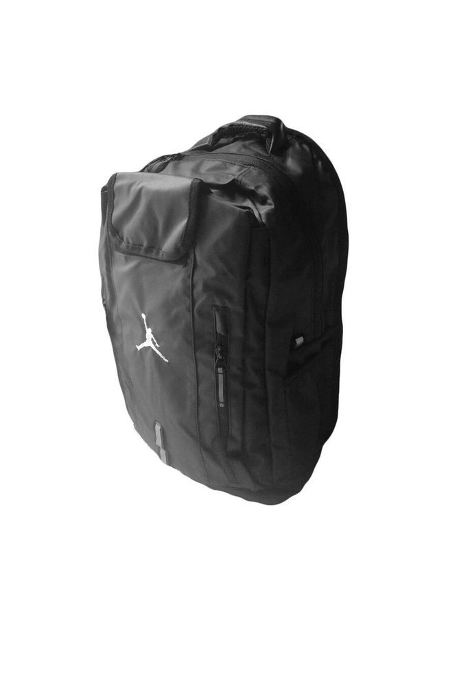 c33d118300 NIKE AIR JORDAN ELITE JUMPMAN BACKPACK BLACK 9A1641 023 School Bag Book Bag  New  Nike  Backpack