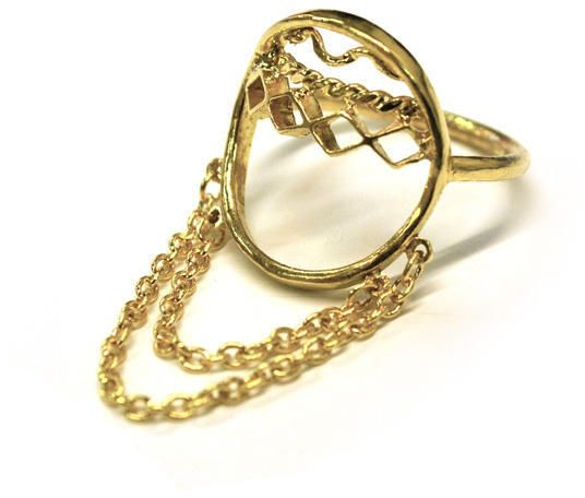 Oriental Hoop Tassel Ring with diamond details on shopstyle.com