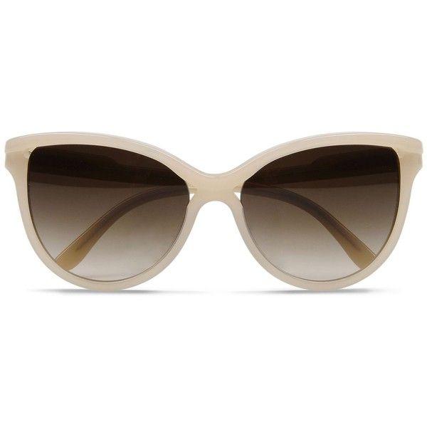 Stella McCartney Cat Eye Sunglasses (285 AED) ❤ liked on Polyvore featuring accessories, eyewear, sunglasses, glasses, nude, square lens sunglasses, uv protection sunglasses, round glasses, cat-eye glasses and stella mccartney sunglasses