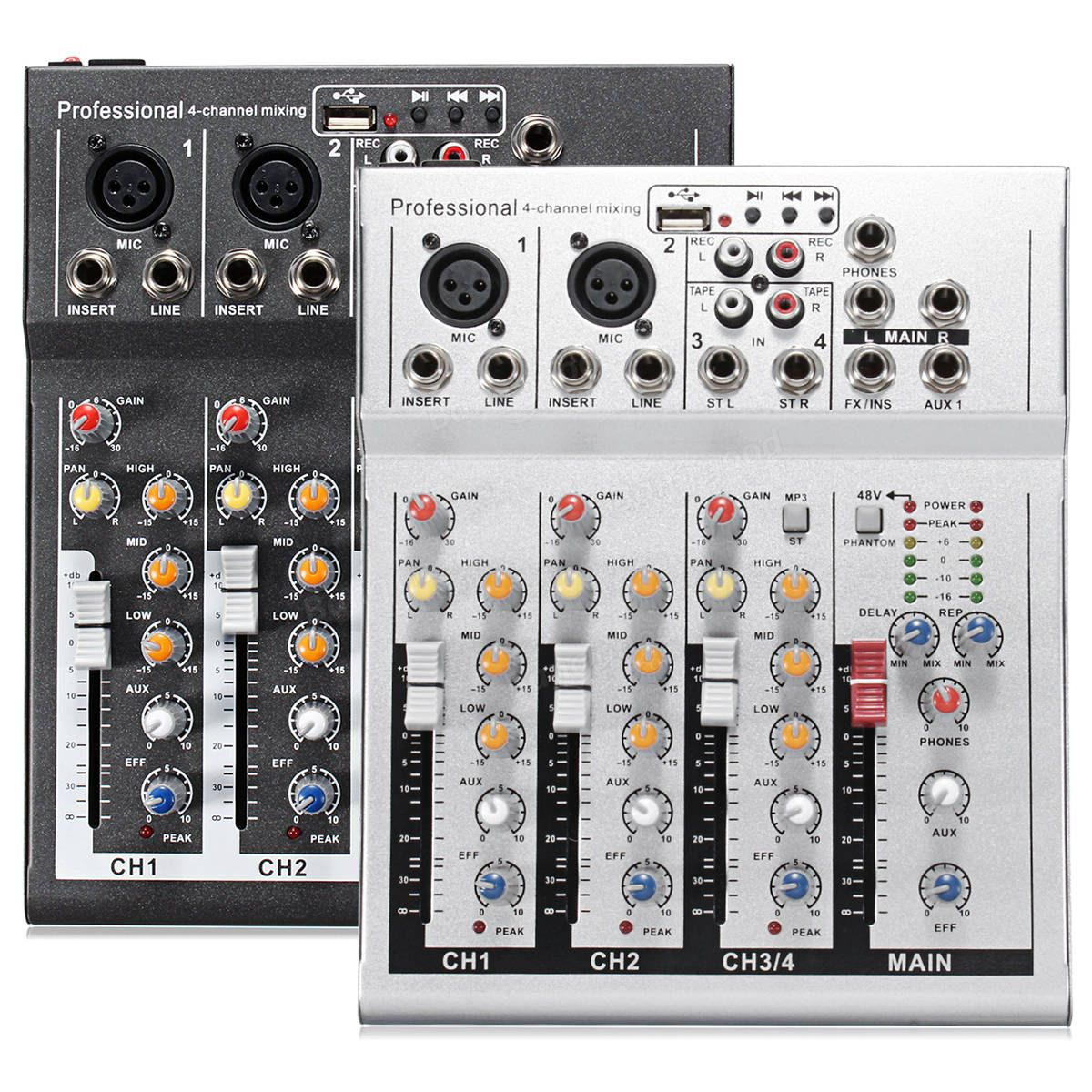4 Kanalig Professional Live Mixing Studio Audio Ljud Usb Ktv Karaoke Mixer Console Hem Ljud Och Video From Elektronik On Banggood Com