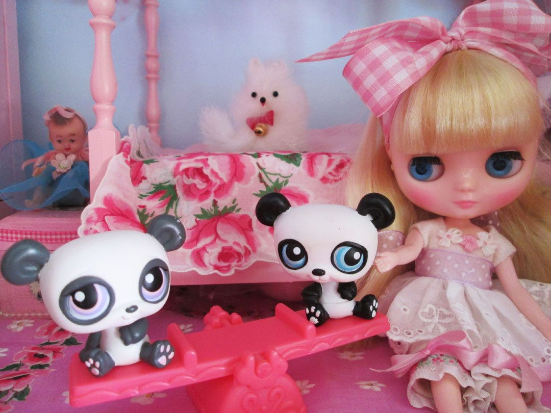 Doll toys images  LPS Panda Bear  Teeter Tooter Doll House Toys for Blythe