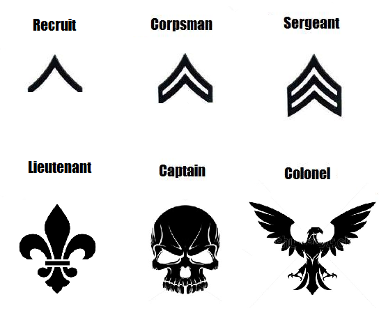 These Are The Different Symbols Used To Identify Ranks Within The Us