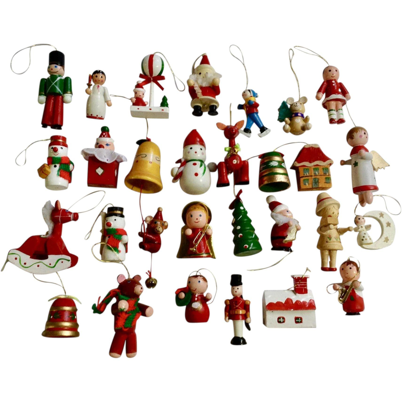 Vintage Wooden Christmas Tree Ornaments And Decorations Angels Horses Santa Re Christmas Tree Ornaments Vintage Unique Christmas Trees Christmas Tree Ornaments