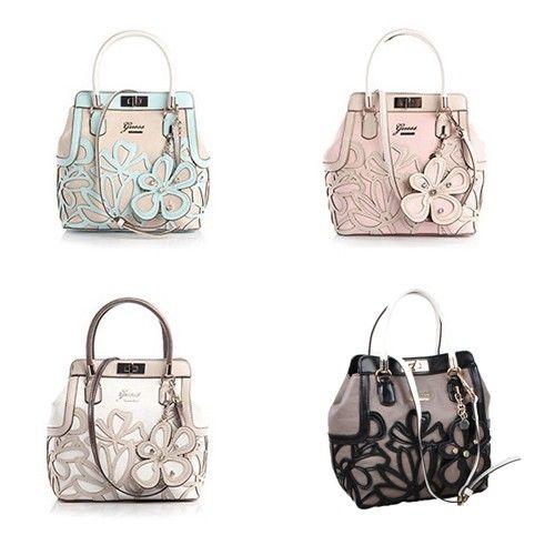 Guess Women Handbag Floren Flower Tote Bag Guess Handbags