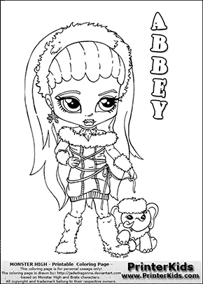 monster high abbey baby chibi cute coloring page