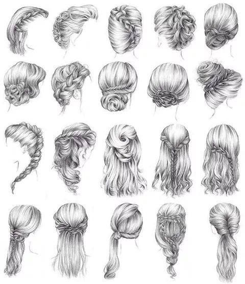Examples For Hair Style Drawings How To Draw Hair How To Draw Braids Drawing Hair Tutorial