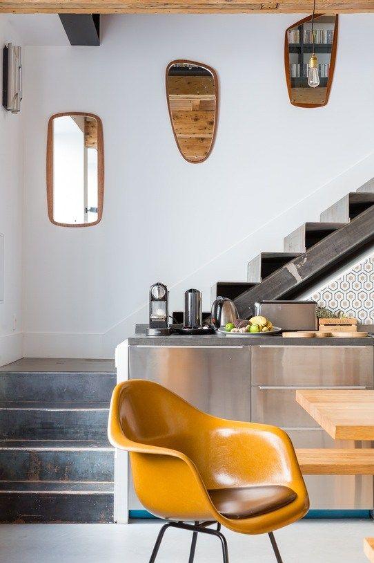 Ju0027ai adoré cet escalier métal et La cuisine en acier inoxydable en