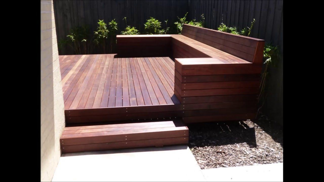 This Is To Give You An Idea Of The Built In Bench As Table Or Seating Attached To Your Deck Out The Front I Think I Timber Deck Deck Seating Backyard Design