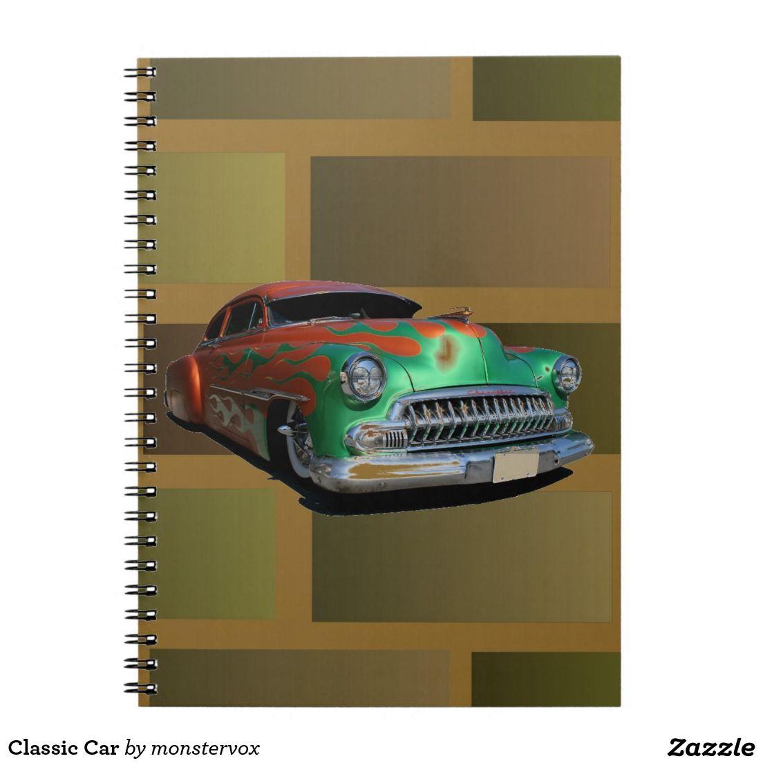Classic Car Spiral Note Book #Classic #Car #Spiral #Notebook