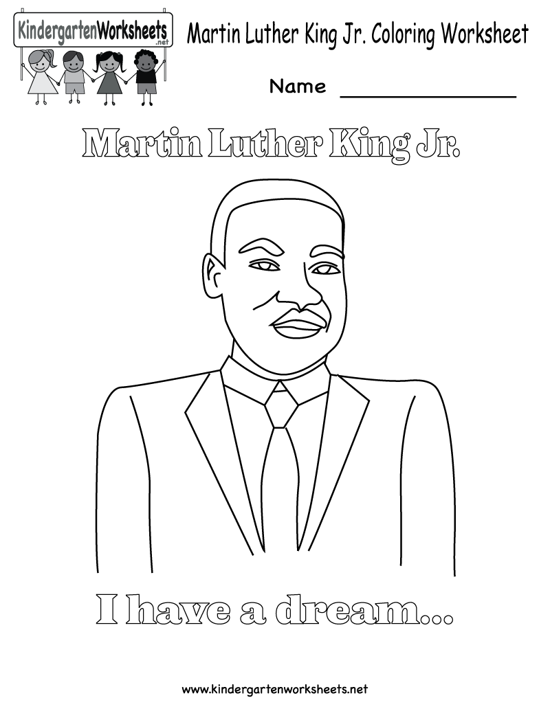 martin luther king jr coloring pages martin luther king coloring worksheet free kindergarten holiday - Free Printable Martin Luther King Coloring Pages
