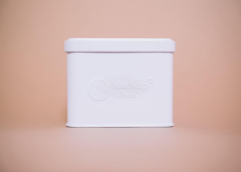Download Free Embossed Tin Box Logo Mockup Logo Mockup Tin Boxes Box Logo