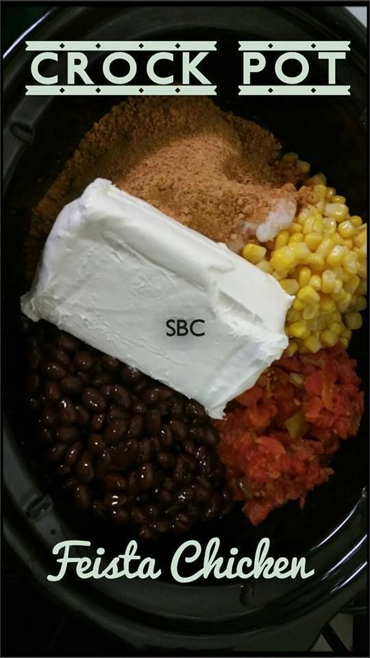 CROCK-POT FIESTA CHICKEN  Serving suggestion: over spanish rice, Tortillas, or Romaine lettuce!  www.BurnFatFeelGreat.com #crockpot #slowcooker #feistachicken #chicken #mexican