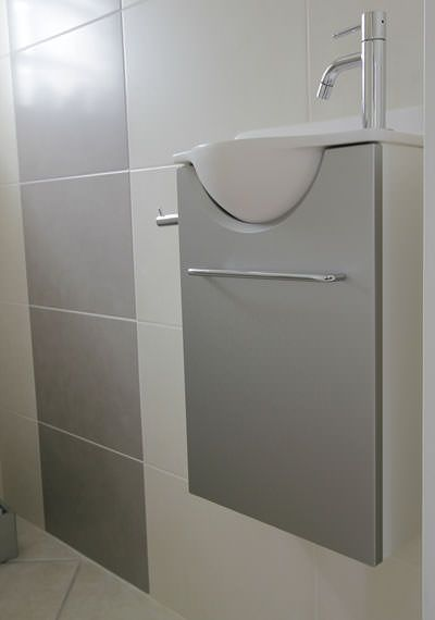 meuble-lave-mains-wc-etroitjpg (400×570) ванная Pinterest