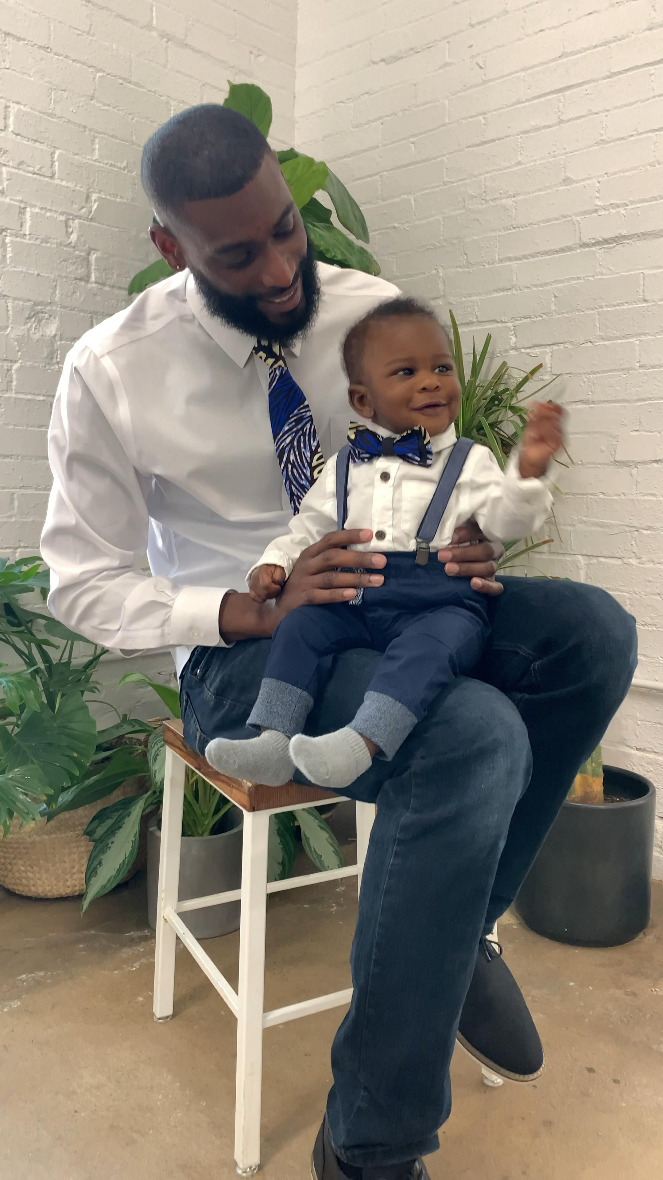 Dad and Son Matching African Print Accessories