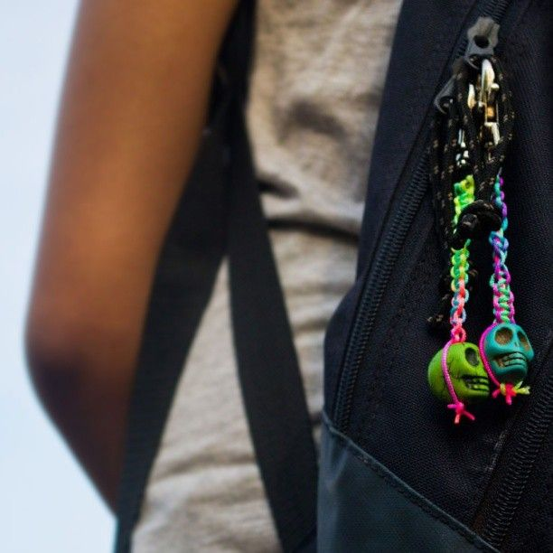 Go neon this summer with these funky skull bag charms. Available in different colours  Price on request