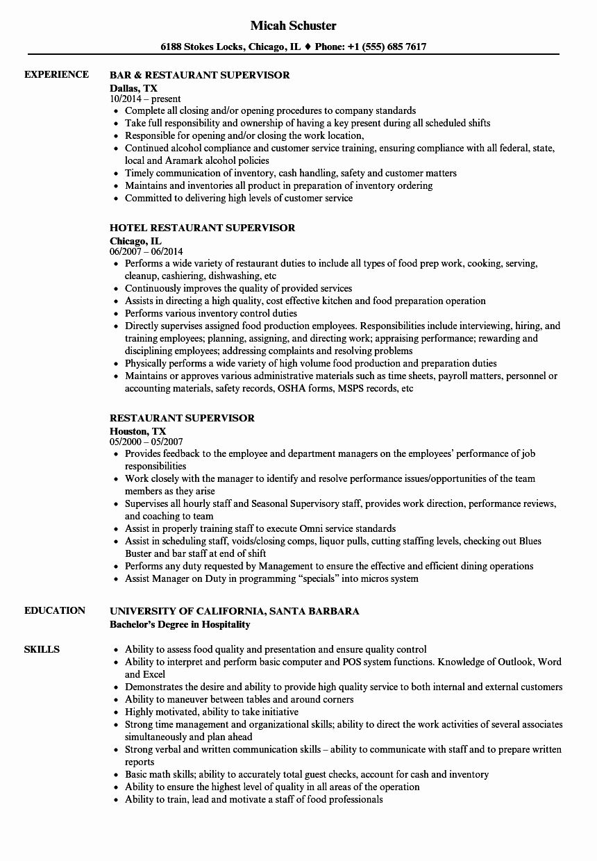 25 Restaurant Manager Resume Samples Pdf in 2020 Resume