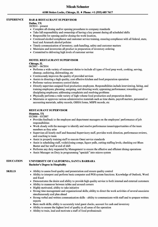 Restaurant Manager Resume Samples Pdf New Job Task List