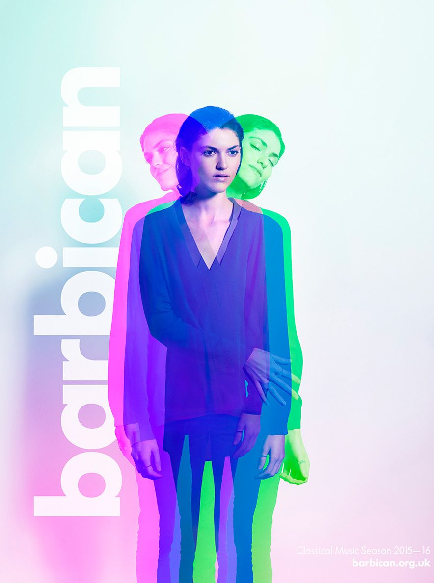 A recent campaign for the Barbican Centre's Classical Music Season 2015-16