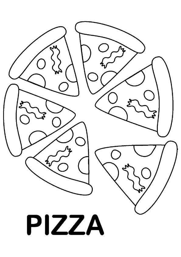 10 Best Pizza Coloring Pages For Your Toddler Colorir Generos