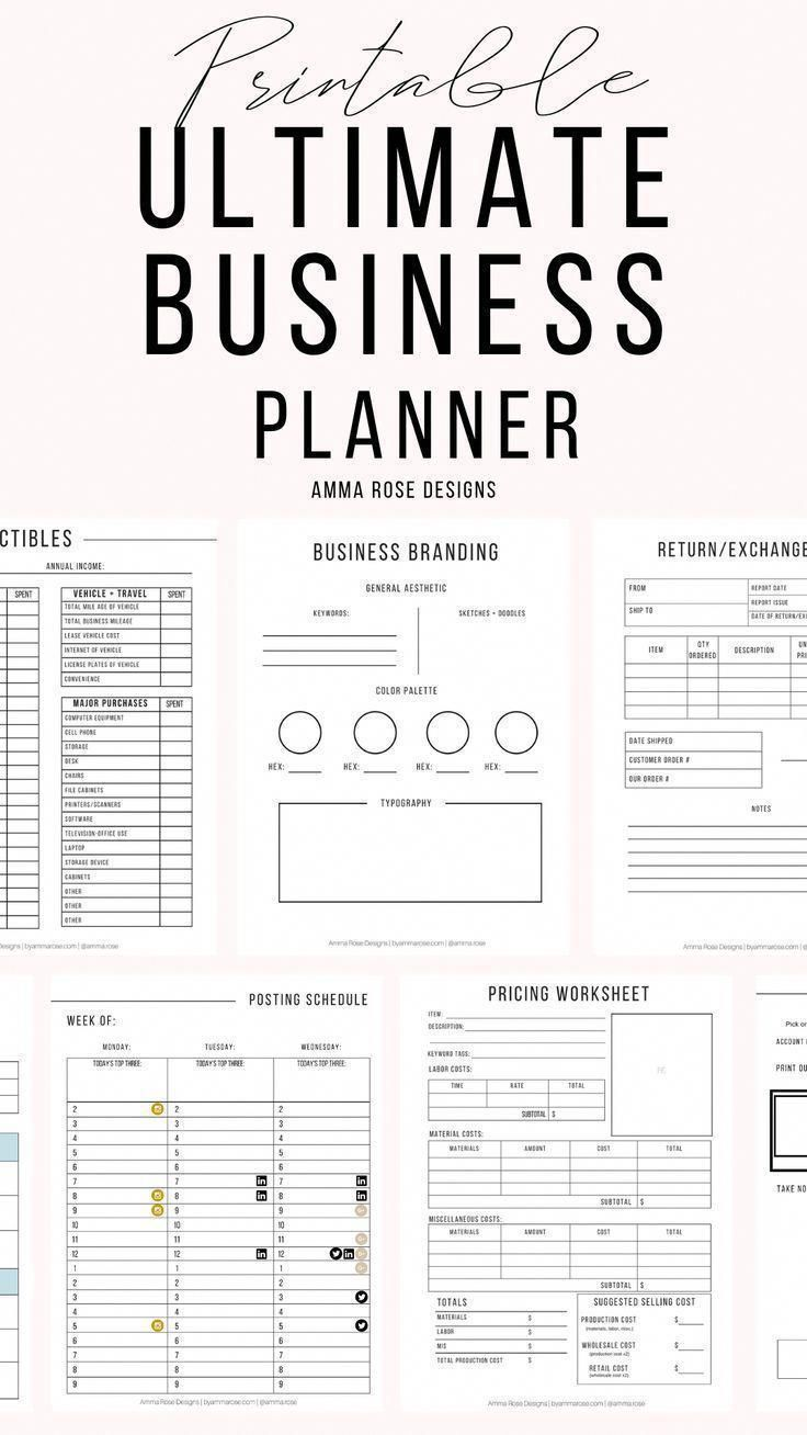 This Business Planner contains everything you need to