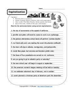 Punctuate Me: Quotation Marks & Capitalization | Worksheet ...