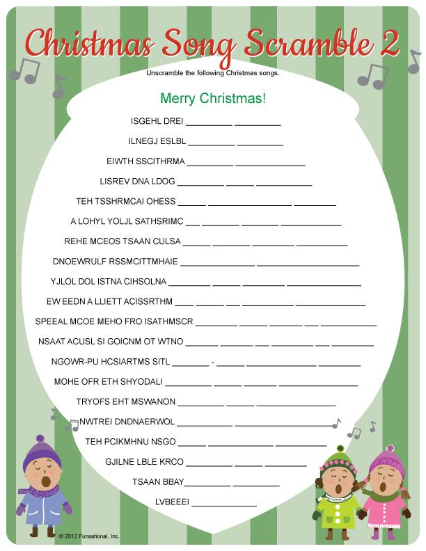 Christmas Song Scramble 2 Falalalala Lala La La Pinterest