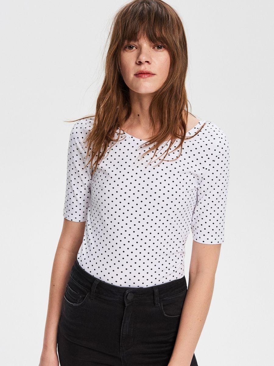 T Shirt Z Bawelny Organicznej Reserved Vc918 Mlc Organic Cotton T Shirts Shirts Blouses For Women