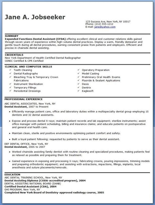 Physical Therapy Resume Objective Statement resume template - resume template dental assistant