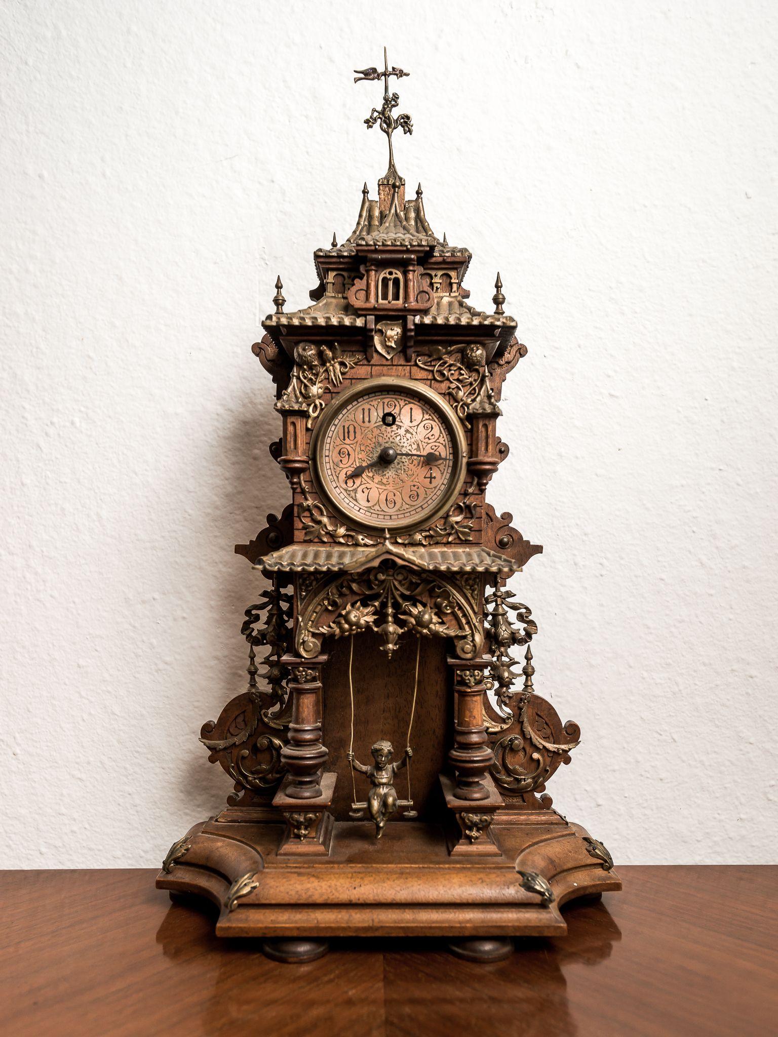 Stefan Röseler Stilvolle Gründerzeit Antiquitäten Antike Uhren Gründerzeit Uhr Holz