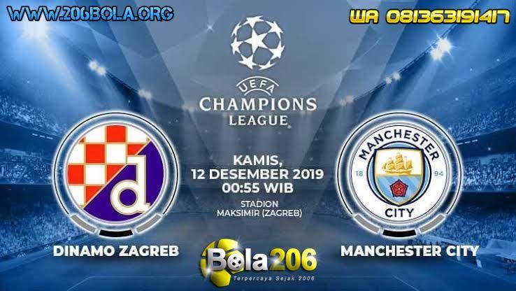 Uefa Champions League Dinamo Zagreb Vs Manchester City 12 Desember 2019 Pukul 00 55 Wib Jadilah Jutawan Bersama Kami Di Zagreb Manchester City Manchester