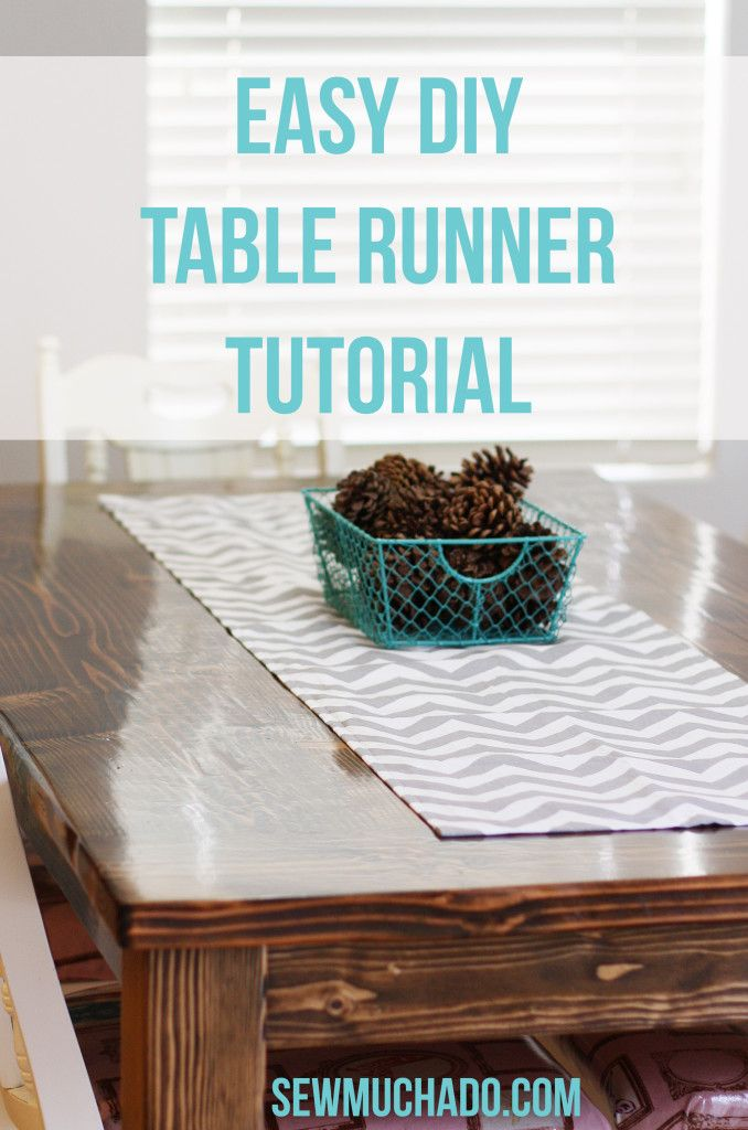Easy DIY Table Runner Tutorial   Sewing   Pinterest   Comedores ...