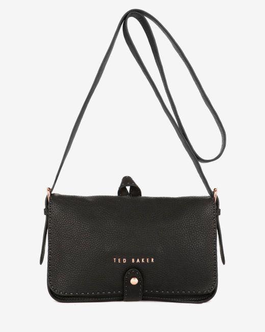 Leather Sch Bag Black Bags Ted Baker Uk