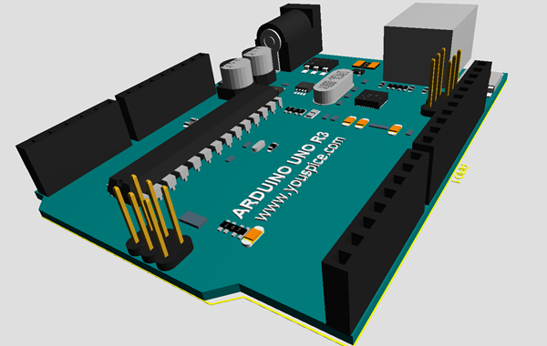 ARDUINO Simulation PCB and 3D Models Libraries for Proteus
