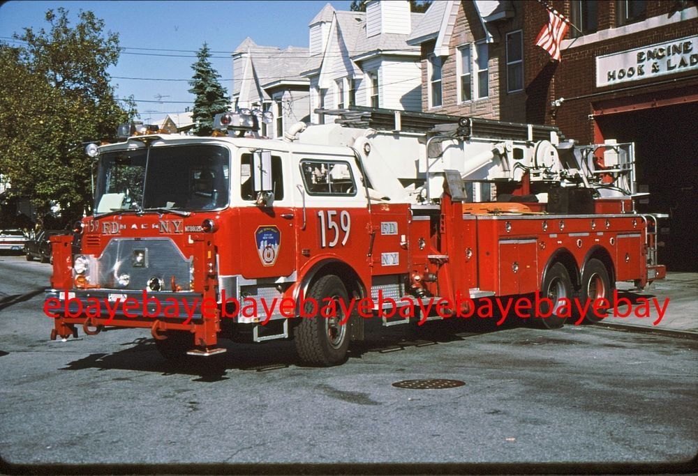 Details about New York City Ladder 18 1973 Mack CF Baker 75' Tower