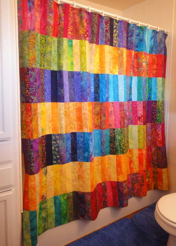 Free Jelly Roll Shower Curtain Tutorial Not Sure About A But It Would Make Great Quilt Love The Colours