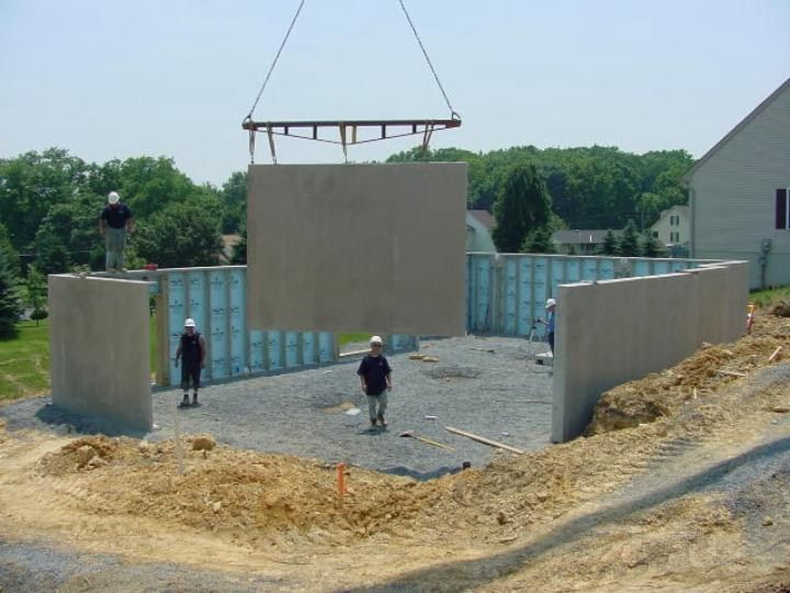Precast Walls Installation Superior Walls Precast Concrete
